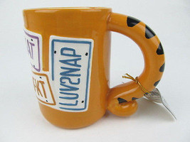 Cat Tail Mug Cup Coffee Handle Tea Kitty Kitten Tabby Ceramic Hot Bevera... - $13.86