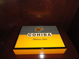 cohiba travel humidor new in the original box with blemish - $225.00