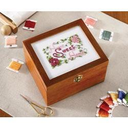 "Primary image for Cambridge Petite Sewing Box 6.75w x 6""d x 4.25""h sewing cross stitch chest"