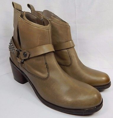 Guess Morelli Taupe Leather Ankle Boots Women's Size US 10 M (B) $159