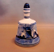 Blue and White Delft Bell From Holland - $5.49