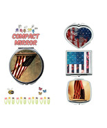 American Flag makeup mirror compact mirror purse mirror travel mirror - $11.99
