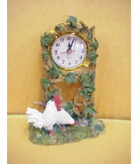 Rooster & Hen Desk/Mantle Clock Resin - $14.01