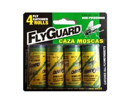 4 Pack Fly Catchers Ribbon Rolls Non-Poisonous, Catches All Flying Insec... - $4.94