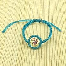 Teal Adjustable Rope Dream Catcher Bracelet Free Shipping - $16.00