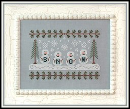 Snowmen christmas winter holiday cross stitch chart Country Cottage Needleworks - $7.20