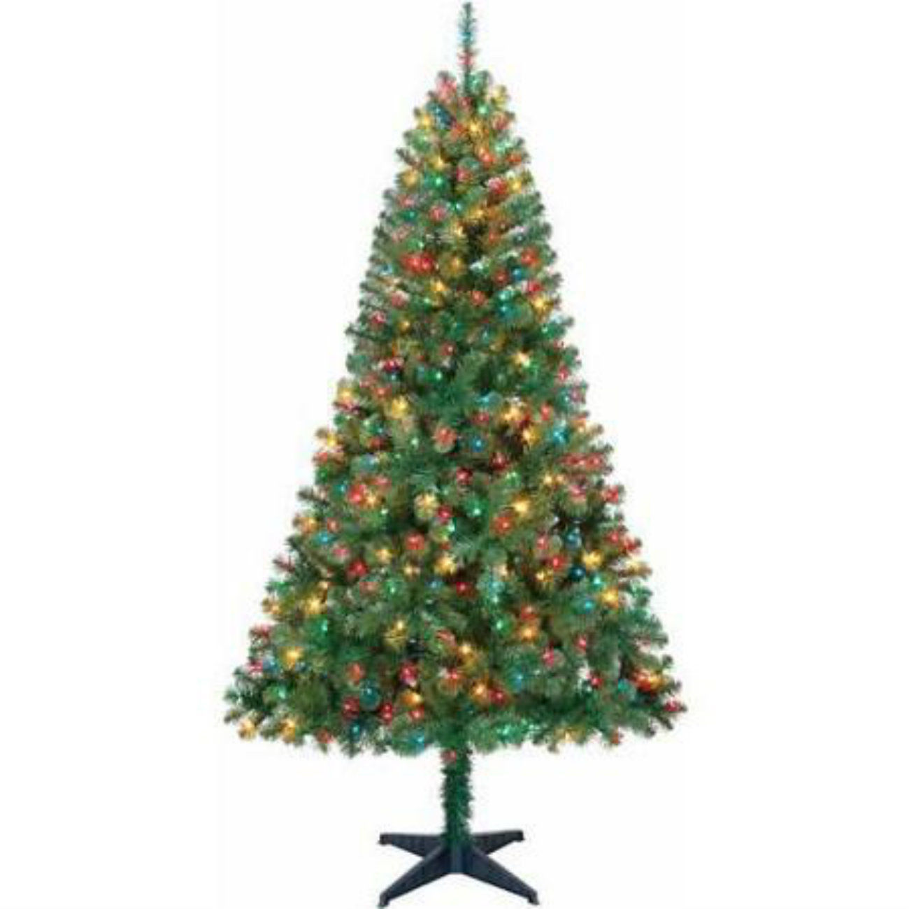 Multi Colored Pre Lit Artificial Christmas Trees