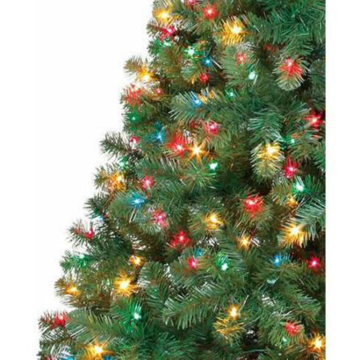 6 5 ft pre lit artificial christmas tree multi color for Christmas tree items list