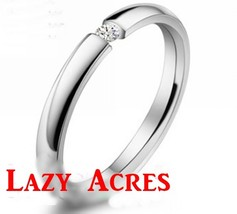 CZ Accent Stainless Steel Silver Unisex Ring Free Shipping - $15.00