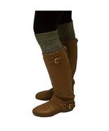 Leg Warmer Triangle Diamond Stitch Knee High Warm Winter Boot Cuff Toppe... - $6.79+