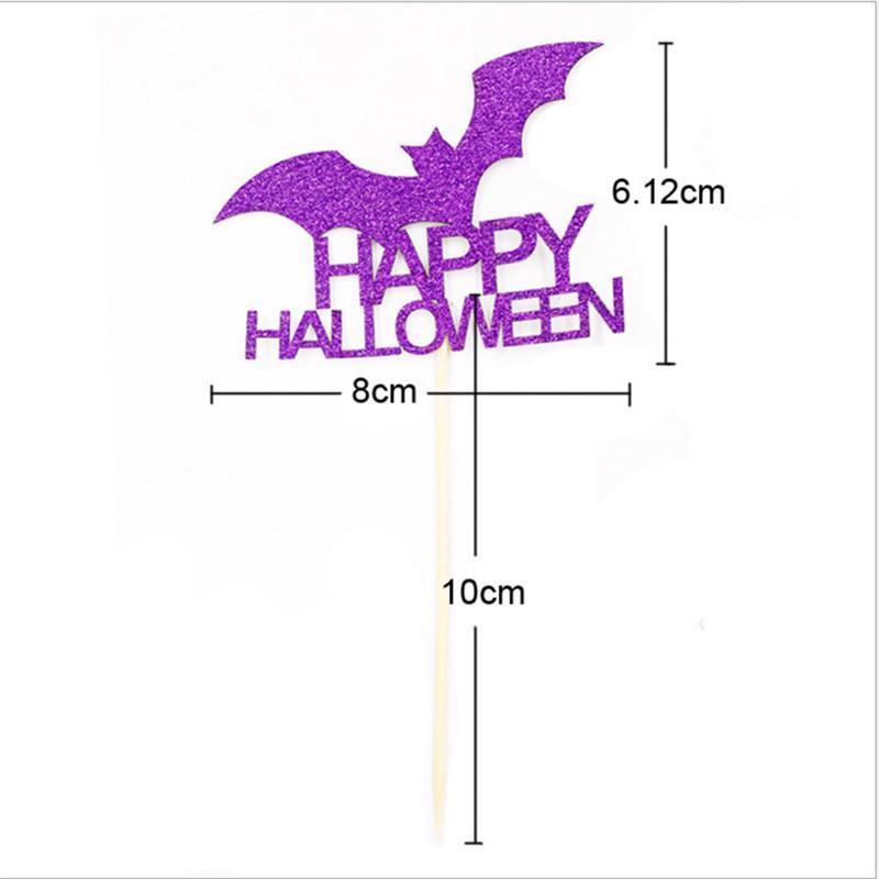 6pc Pumpkin Ghost Cat Spider Halloween Party Decorations Kids Halloween Diy Cake