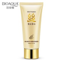 Silk Protein Deep Pore Cleansing Cream Milk Facial Face Cleaner Acne Remover - $9.85