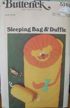 Pattern 5161 Child's Indoor Sleeping Bag & Duffle - $7.99