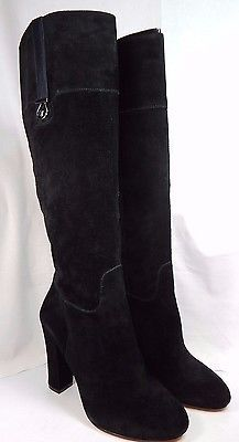 JOAN & DAVID Sterla Black Suede Knee High Boots Women's Size US 10 M (B) $159