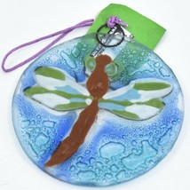 Dragonfly Insect Fused Art Glass Ornament Sun Catcher Handmade Ecuador image 2