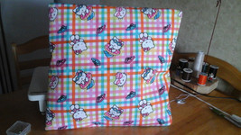 Hand-made Hello Kitty Summer time throw pillow back solid pink - $28.00