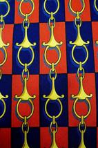 PITTI UOMO  Red/Blue  GOLD LINKS   Mens 100  SILK Necktie  8 919 - $19.99