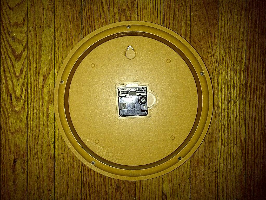 """12 """" inch Ikko AA Battery Wheat Tan Beige Khaki Light Brown Quartz Wall Clock"""