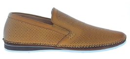 NEW ZANZARA Mens MERZ Slip-On Premium Perforated Leather Shoes image 10