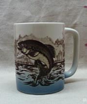 Vintage OTAGIRI JAPAN Raised Glaze TROUT Fish Stoneware Coffee Cup/Mug - $9.00