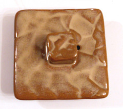 Replacement piece Pier 1 Canyon Teapot LID ONLY Brown Textured Stoneware  - $14.80
