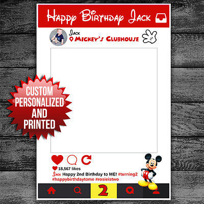 Mickey Mouse Selfie Frame Instagram Social And 50 Similar Items