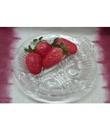 Vintage Indiana Glass Killarney Design Divided Dish Pressed Glass Servin... - $10.00