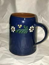 Rothenburger KERAMIK K Ehler POTTERY Blue REDWARE Germany SLIPWARE Mug 5... - $29.69