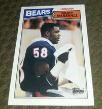 1987 Topps Wilber Marshall Nearly flawless great 4 any collection ships fast! - $1.49