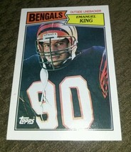 1987 Topps Emanuel King Nearly flawless great 4 any collection, ships fast! - $0.98