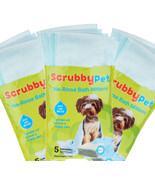 Scrubby Pet No-Rinse Set of 15 On the Go PetBath Mittens, 3 Packages of 5 - $19.79