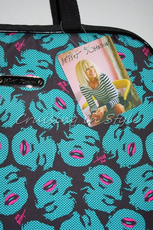 Betsey Johnson NWT Hot Lips Marilyn Monroe Laptop Bag Case Great Gift