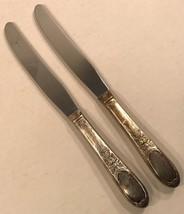 2 Knives Burgundy Champagne 1934 Wm Rogers International Silver Grapes No Mono - $26.11