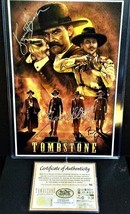 12x18 Autographed Poster Cast of Tombstone_Rare Exclusive  + C.O.A. - $549.49