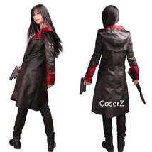 Devil May Cry Dante Cosplay Costume DMC 5 Leather Jacket Trench Coat - $95.00