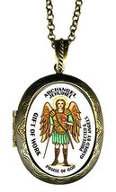 Archangel Jehudiel Gift of Work Praise of God Xl Solid Perfume Locket Pe... - $29.95