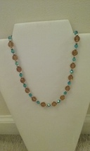 Handmade Blue & Yellow Crystal Necklace - $7.50