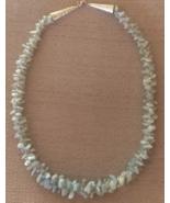 Handmade Designer Necklace Aquamarine Beaded Kumihimo - $26.99