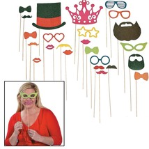 Glitter Photo Booth Stick Props (24 Pieces) - $16.14
