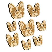 French Bulldog Face Wood Buttons for Sewing Knitting Crochet DIY Craft - Medium  - $9.99