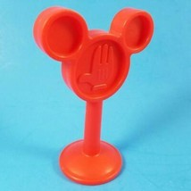 Disney Mickey Mouse Clubhouse Railroad Stop Sign Train Car Toy Red Matte... - $6.99
