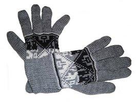 Alpakaandmore Women Douple Knitted Gloves Alpaca Wool One Size (Grey) [A... - $38.61