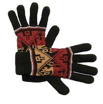 Alpakaandmore Women Douple Knitted Gloves Alpaca Wool One Size (Dark gre... - $38.61