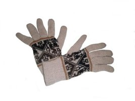 Alpakaandmore Women Douple Knitted Gloves Alpaca Wool One Size (Creme) [... - $38.61