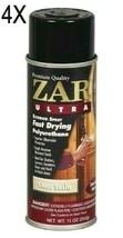 4x ZAR 34007 Clear Gloss Ultra Exterior Oil Based Polyurethane 11 oz Spray Cans