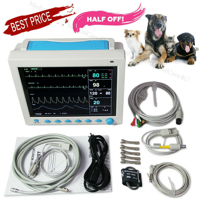 New Veterinary Patient Monitor Animal Vital Signs Monitor 7 Parameters For VET