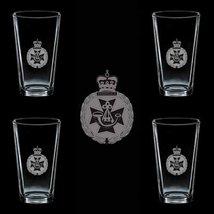 Great Britain Uk Cap Badge Royal Green Jackets Bw 4 Glass Set - $34.64