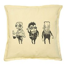 Vietsbay's Drunk Funny Characters Printed Khaki Decorative Pillows Case ... - $14.39