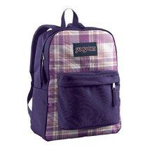 JanSport Superbreak Student Backpack - White Punjabi Purple Magic Plaid - $34.99