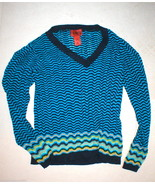 Womens Missoni Target Sweater XL Blue Yellow Aq... - $99.99